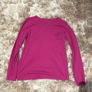 Vineyard Vines Pink Long Sleeve Top